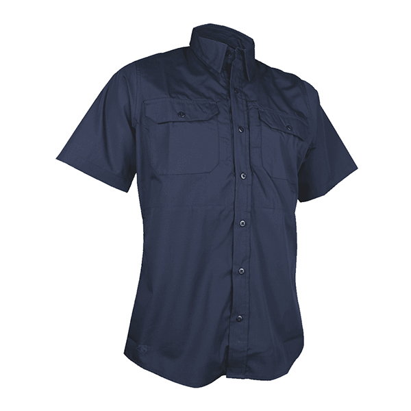 Tru-Spec Dress Shirt, Navy 24-7, SS, P/C