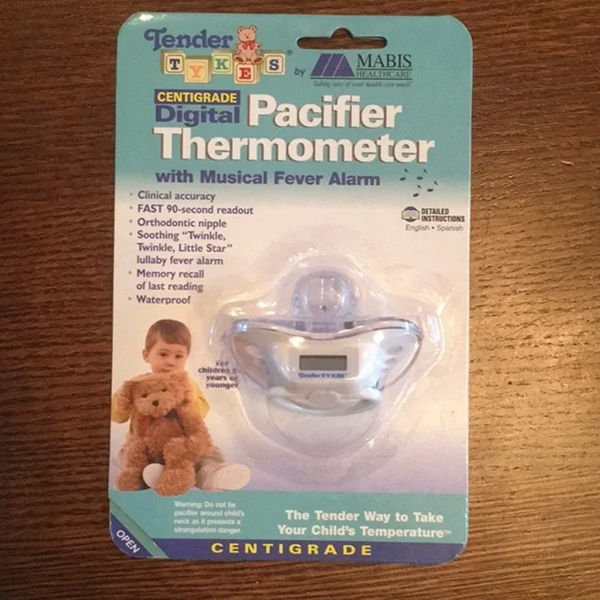 Briggs Pacifier Thermometer, Digital Fahrenheit