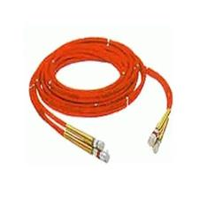 Holmatro Hose, Thermoplastic 16'w/Coupler Twin Line Red/Red