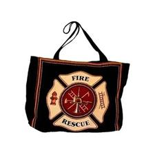 Mill Street Design Tote Bag, Fire Rescue Maltese Cross