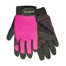 ERB Industries Women's Fit Mechanics Glove/Pink&Black/MD
