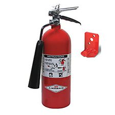 Amerex Extinguisher, CO2 5# w/Wall Bracket