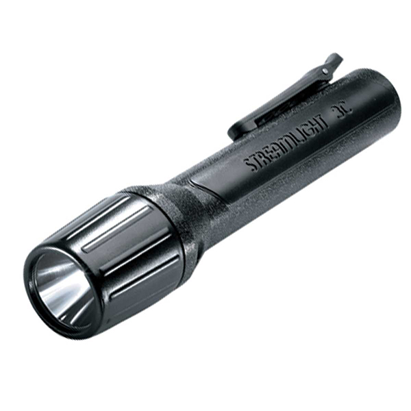 Streamlight Flashlight, LED 3C Propolymer Only, Black