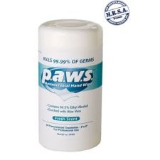 P.A.W.S Antimicrobial Hand Wipes, BX/50