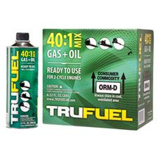 Trufuel 40 Fuel, 40:1 PremixedGas/Oil, (6) 32oz Cans