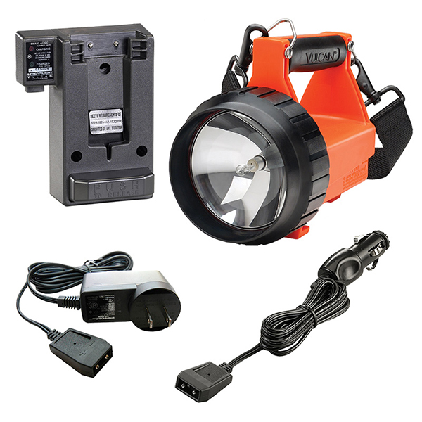 Streamlight Fire Vulcan,Orange LED AC/DC Charging System
