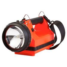 Streamlight FireBox 8W Spot, AC/DC Charger, 2 LEDs, Orange