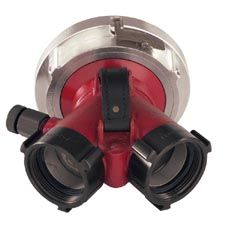 "Elkhart 2-Way Clappered Siames Valve, (2)2.5""F x 2.5""M"