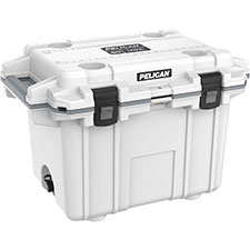 Pelican Elite Wheeled Cooler, 50 Qt, Marine White