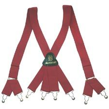 Suspender, Red, Metal NAFECO Logo