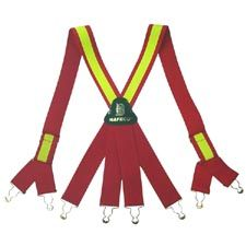 Suspender, Red, Metal Yellow Trim, NAFECO Logo