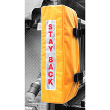 "Ladder Cover, ""Stay Back"" Yellow 8""D x 9""W x 24""H"