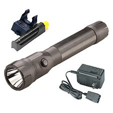 Streamlight Polystinger DS C4 LED, 120V AC PiggyBack, Black