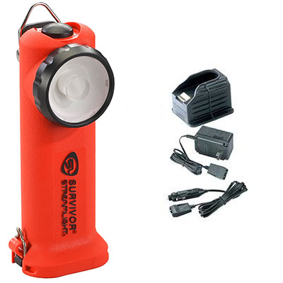 Streamlight Survivor LED, 120VAC/12VDC Chargers, Orange