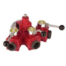 "Elkhart Gated Manifold,3-Way (3) 2.5"" M Outlets"