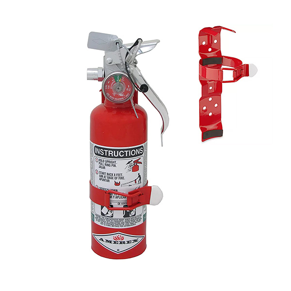 Amerex Extinguisher, Halotron 1.4 lb w/Vehicle Bracket