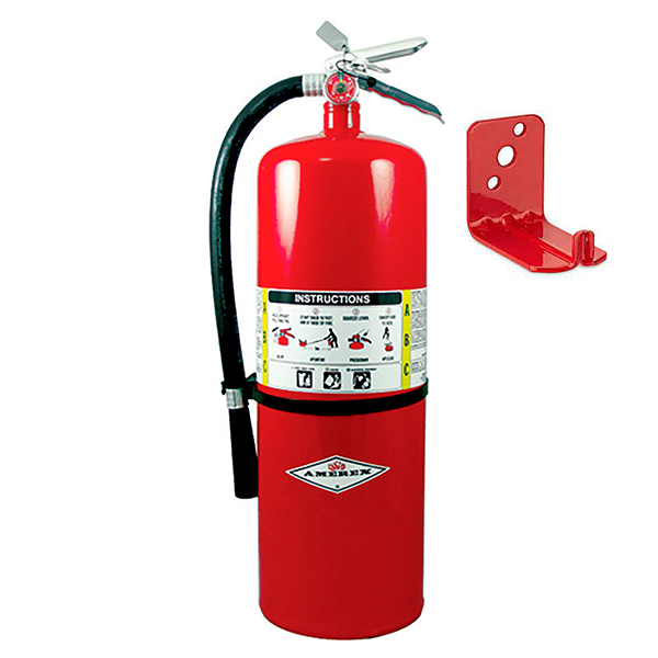 Amerex 20# ABC Extinguisher, w/ Wall Bracket   (10A:120B:C)