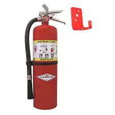 Amerex Extinguisher, 20lb BC with 0577 Wall Bracket