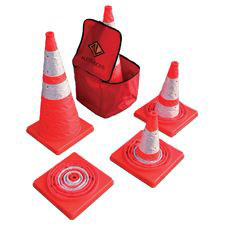"Pop-Up Cone,  28"" w/ 3M 3310 Trim, Set of 5, Includes Bag"
