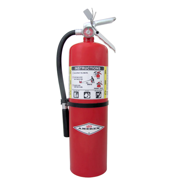 Amerex 10# Extinguisher, ABC w/ Wall Bracket (4A:80B:C)