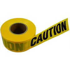 "Pro-Line Barricade Tape, ""Caution"" Yellow 3""x1000'"