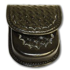 Don Hume Handcuff Case, Black Basketweave w/ Hidden Snap