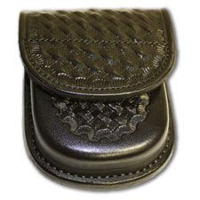 Don Hume Handcuff Case, Black Basketweave, w/ Velcro Flap