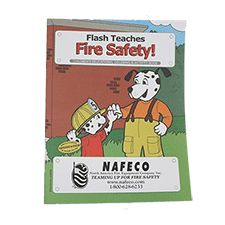 "Fire Safety Kids Coloring Book ""Flash, Fire Safety Dog"""