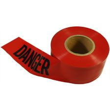 "Pro-Line Barricade Tape, ""Danger"" Red 3""x1000'"