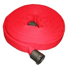 "Key Fire Hose, 1.0"" x 50' Red, DJ, ECO, 800 PSI , 1"" NH"
