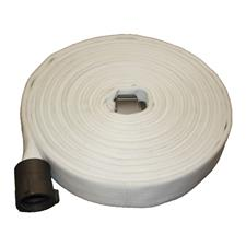 "Key Fire Hose, 1.0"" x 50' White, DJ, ECO, 800 PSI, 1"" NH"