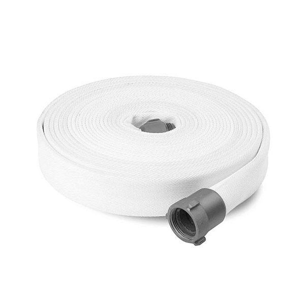 "Key Fire Hose, 1.5"" x 50' White, DJ, ECO, 800 PSI,1.5""NH"