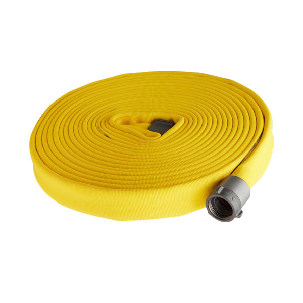 "Key Fire Hose, 1.5"" x 50' Yellow, DJ, ECO,800 PSI,1.5""NH"
