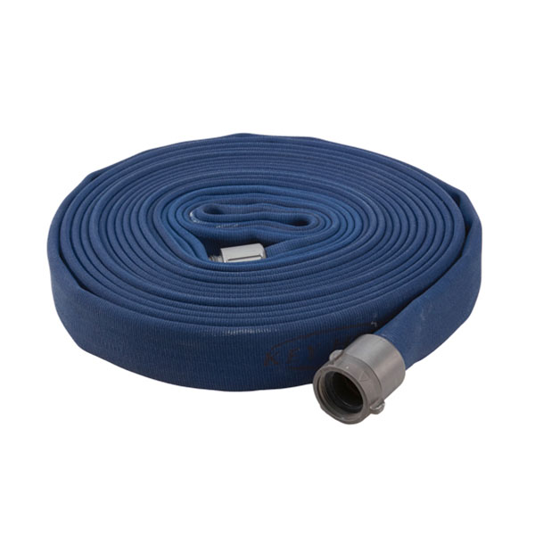 "Key Fire Hose, 2.5"" x 50' Blue, DJ, ECO, 800 PSI, 2.5""NH"