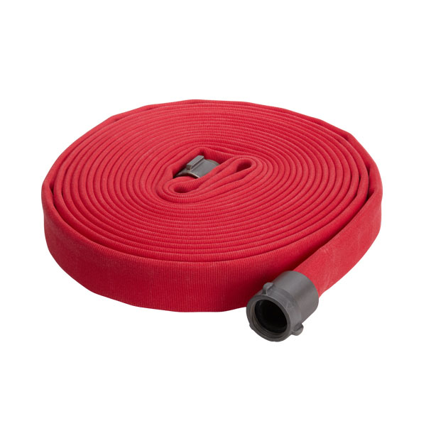 "Key Fire Hose, 3.0"" x 50' Red, DJ, ECO, 800 PSI, 2.5""NH"