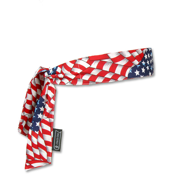 Cooling Bandana Tie Closure Stars & Stripes