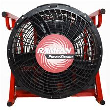 "Euramco 18"" PPV Fan, Zero Down Time, 115V/DC, 4 Bats"