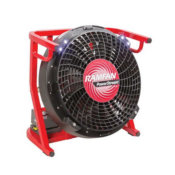 "Ramfan 18"" Battery Powered Fan With Two 40V Battery Packs"