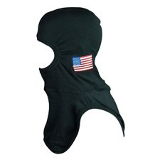Majestic Speciality Hood, Black, US Flag Embroidered