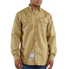 Carhartt Twill Shirt, FR w/ Pocket Khaki 2XL-R