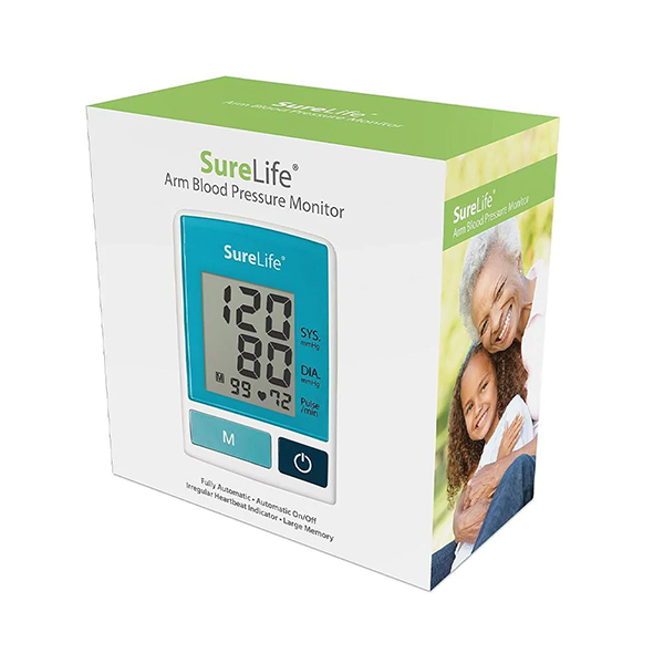 SureLife Arm BP Monitor, Adult (4) 'AA' Batteries Included