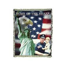 "Mill Street Design Afghan, ""Home Of The Brave"" for Police"