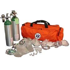NAFECO Oxygen Kit w/ Bag  & Jumbo 'D' Cylinder, Orange