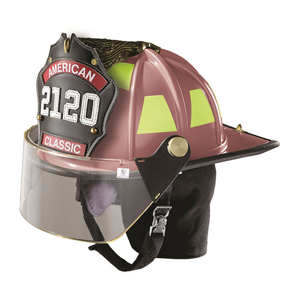 LION Classic Helmet, Pink, Faceshield, Metal Thumbwheel