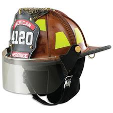 "LION American Heritage Leather Helmet, 4"" Faceshield"