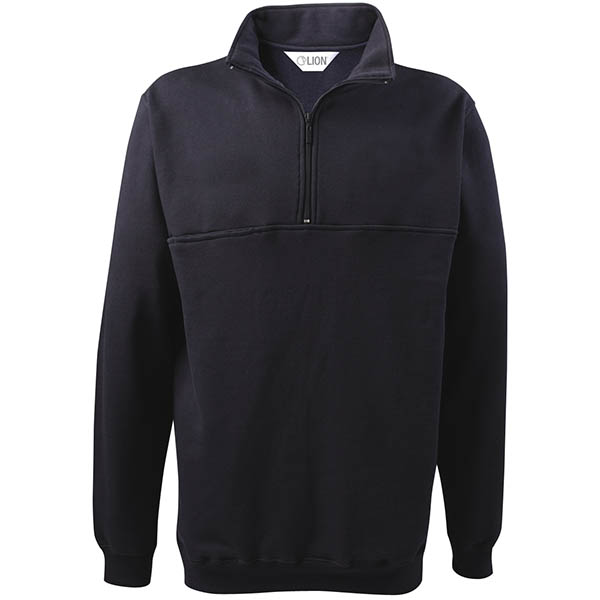 LION Navy Poly-Cotton Fleece 1/4 Zip Jobshirt