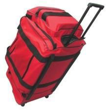 FireFighter Turnout Gear Bag, Wheels/Extnd Handle, Red