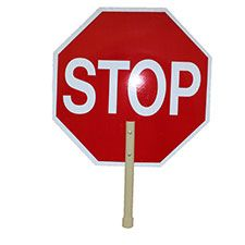 "Stop Sign, 18"" STOP/SLOW Hi Intensity Reflective,"