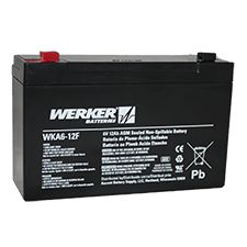 Battery, 6Volt, 12 Amp, for Streamlight Litebox/Firebox