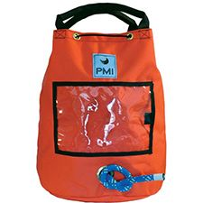 "PMI Rope Bag, Holds 150' 1/2"" Rope, Orange"